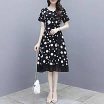 Стильное свободное платье с красивым принтом, фото 2