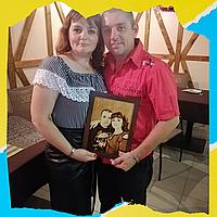 Оригинальный подарок мужу ( Подарите выжженный портрет на березовом дереве)