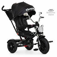 Детский трехколесный велосипед с поворотным сиденьем, корзиной для игрушек «TURBOTRIKE» M 4056HA-20-15 черный