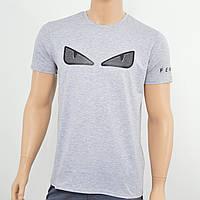 Мужская футболка Fendi светлый серый меланж