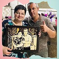 Подарок мужчине на юбилей ( Подарите выжженный портрет на березовом дереве)
