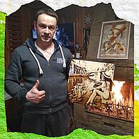 Подарок любимому мужчине идеи ( Подарите выжженный портрет на березовом дереве)