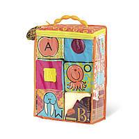 Розвиваючі м'які кубики-сортери ABC (6 кубиків, в сумочці, м'які кольори), BX1477Z, фото 1