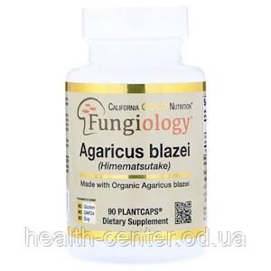 Агарик бразильский (химематсутаке) 600 мг 90 капс сертифицированный онкопротектор CaliforniaGoldNutrition USA