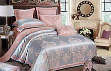 Комплект постельного белья Bella Villa Семейный сатин жаккард с кружевом