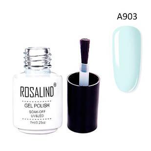 Гель-лак для нігтів манікюру 7мл Розалінда, шелак, А903 пастельно блакитний