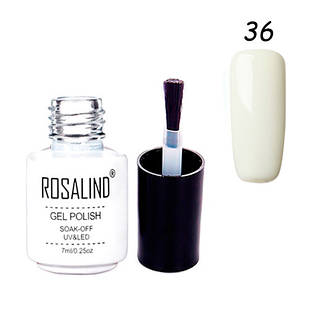 Гель-лак для нігтів манікюру 7мл Розалінда, шелак, 36 молочний