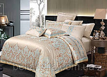 Комплект постельного белья Bella Villa Евро сатин жаккард с вышивкой