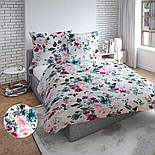 """Отрез ткани """"Большие акварельные розы"""" с тёмно-зелёными листьями, №3230, размер 100*160 см, фото 4"""