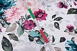 """Отрез ткани """"Большие акварельные розы"""" с тёмно-зелёными листьями, №3230, размер 100*160 см, фото 7"""