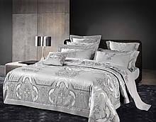 Комплект постельного белья Bella Villa Семейный сатин жаккард с вышивкой