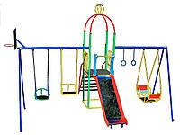 """Игровая площадка для детей """"Король"""" с качелями и горкой"""