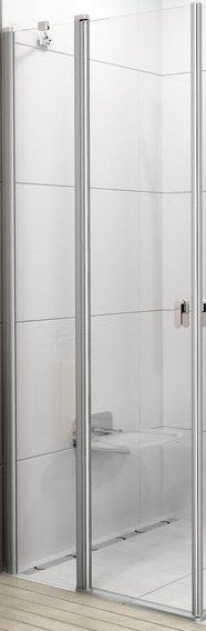 CRV2-90 satin (Transparent) Душові двері