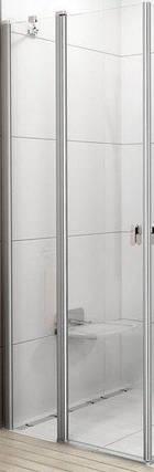 CRV2-90 satin (Transparent) Душові двері, фото 2