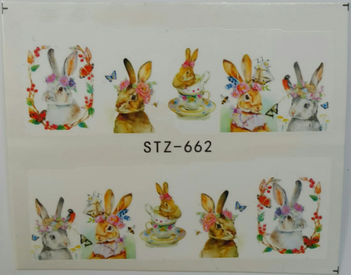 Наклейка для ногтей STZ-662