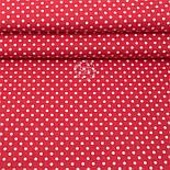 Лоскут поплина с горошком 6 мм на красном фоне, (№3317) размер 45*117 см, фото 2