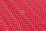 Поплін з горошком 6 мм на червоному тлі, ширина 240 см (№3317), фото 3