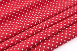 Лоскут поплина с горошком 6 мм на красном фоне, (№3317) размер 45*117 см, фото 4