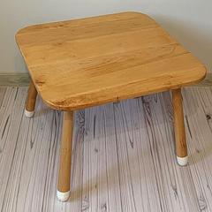 Детский деревянный квадратный столик