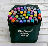 Набор двусторонние фломастеры для художников Touch Cool 48 шт./уп. черный корпус, скетч маркеры (NS)