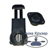 Клапан сливной транцевый BRAVO толщина транца 17-23 мм для надувных лодок ПВХ, чвет черный, фото 1