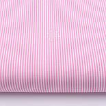 """Лоскут ткани с мелкой полоской """"Бамбук"""" розового цвета (№2271), размер 90*42 см, фото 2"""