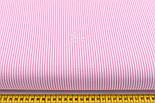 """Лоскут ткани с мелкой полоской """"Бамбук"""" розового цвета (№2271), размер 90*42 см, фото 3"""