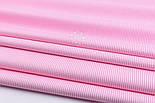 """Лоскут ткани с мелкой полоской """"Бамбук"""" розового цвета (№2271), размер 90*42 см, фото 4"""