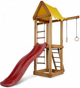 Уличная детская площадка с горкой, кольцами, лесенкой и песочницей для дачи и дома
