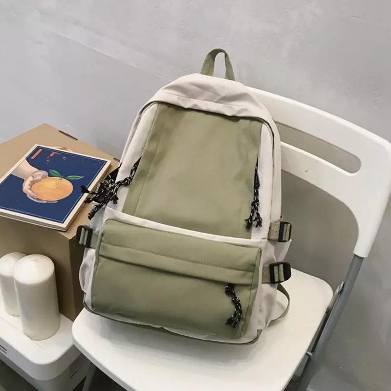 Рюкзак для девочки подростка школьный, водонепроницаемый мятно-серый  Goghvinci.