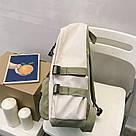 Рюкзак для девочки подростка школьный, водонепроницаемый мятно-серый  Goghvinci., фото 2