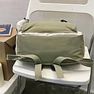 Рюкзак для девочки подростка школьный, водонепроницаемый мятно-серый  Goghvinci., фото 4