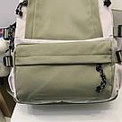 Рюкзак для девочки подростка школьный, водонепроницаемый мятно-серый  Goghvinci., фото 5