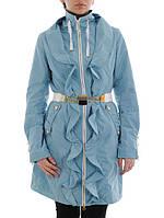 Весенняя куртка (плащ) женская Salco F-13690 бирюза скидка
