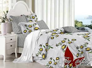 Двуспальный Евро комплект постельного белья поплин с компаньоном PL5804