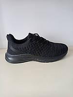 Кросівки чоловічі сітка чорні, фото 1