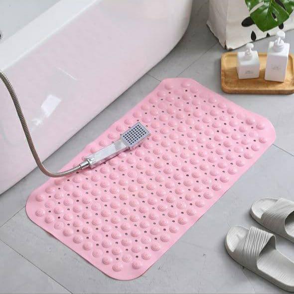 Дитячий  антиковзаючий  килимок у ванну (Рожевий)