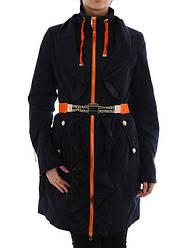 Куртка (плащ) женская Salco F-13690 син скидка