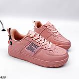 Жіночі кросівки, кеди з написами білі рожеві темно сірі, фото 4