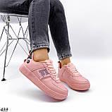 Жіночі кросівки, кеди з написами білі рожеві темно сірі, фото 5