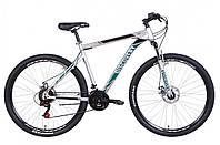 """Велосипед горный мужской 29"""" Discovery Trek AM DD 2021 рама 21"""" серебристо черный с бирюзовым"""