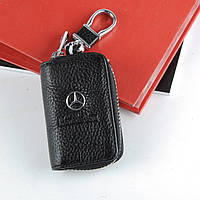 Ключница с логотипом авто Mercedes, брелок Мерседес, фото 1