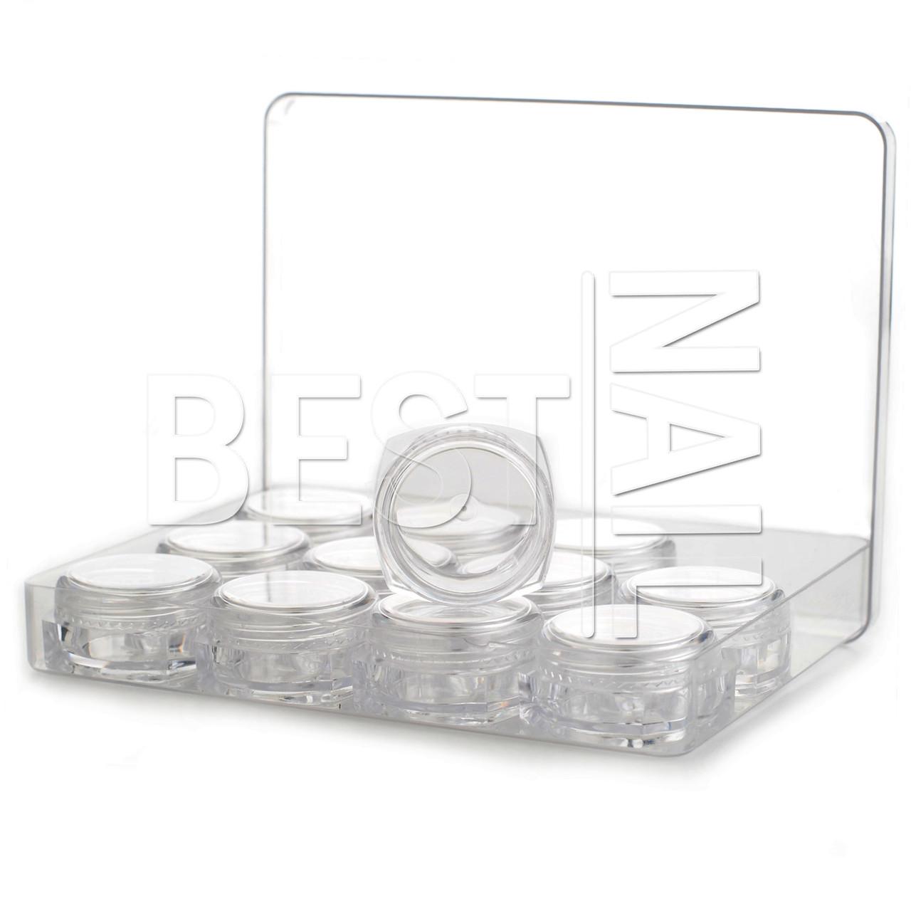 Баночка-закрутка квадратной формы, 3 мл (12 штук + коробка)