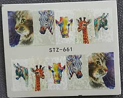 Наклейка для ногтей STZ-661