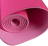 Коврик для фитнеса  Newt TPE Eco 183 х 61 х 0.6 см розовый, фото 2