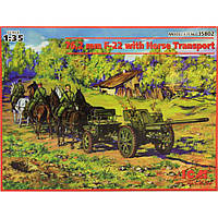 ICM 1/35 76,2 mm F-22 with Horse Transport