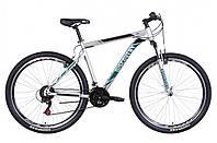 """Велосипед горный мужской 29"""" Discovery Trek AM VBR 2021 рама 21"""" серебристо черный с бирюзовым"""