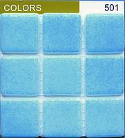 """Мозаика  Испанская """"Colors""""FOG TURQUOISE BLUE 501"""