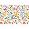 """Фетр с рисунком цветочный принт """"Разноцветные цветы"""" ЦП020"""