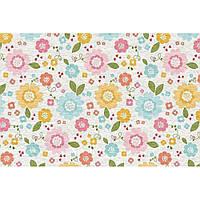 """Фетр с рисунком цветочный принт """"Разноцветные цветы"""" ЦП020, фото 1"""
